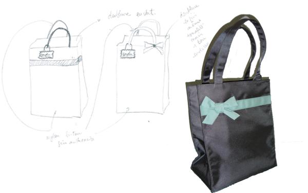 Création et fabrication d'un shopping bag pour les VIP Darphin